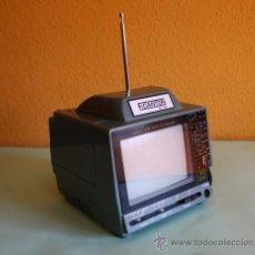 Nuevo: TELEVISOR BLANCO Y NEGRO PORTATIL CON RADIO - F.CANTON 1986. Lote 41309282