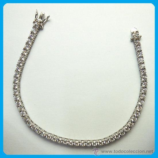 34c7ddb5a016 Pulsera de plata rodiada con circonitas riviere - Vendido en Venta ...