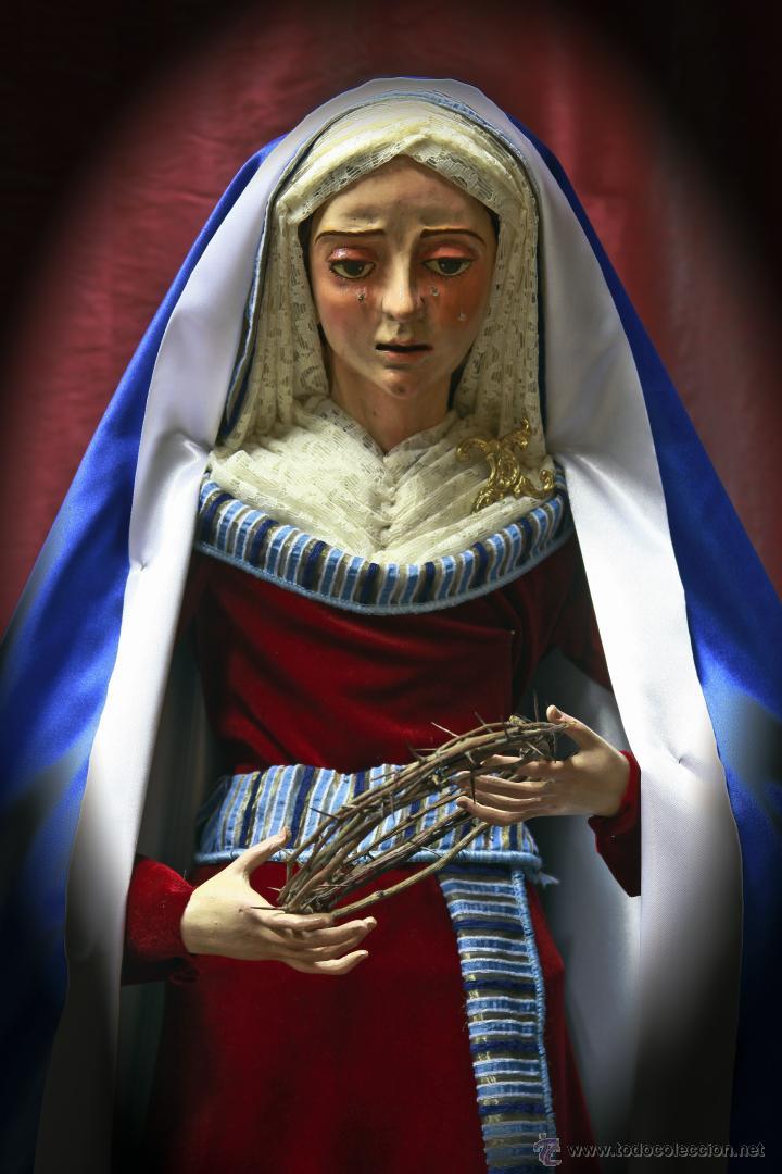 Nuevo: Virgen dolorosa de 90 ctm vestida de hebrea. - Foto 5 - 43996311