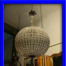 Nuevo: SUPERDECORATIVO GLOBO O LAMPARA DE CRISTALES 55 CM DE DIAMETRO BRONCE ENVEJECIDO. Lote 68657273