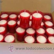 Nuevo: LAMPARILLA DE CERA DE 100 X 57 ENVASE COLOR ROJO****CAJA DE 24 UNIDADES*** CALIDAD EXCELENTE. Lote 47178083