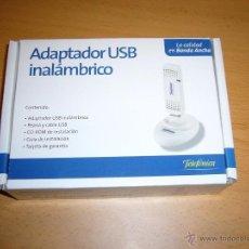 Nuevo: ADAPTADOR USB INALAMBRICO. Lote 46614971