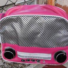 Nuevo: BOLSO RADIO RETRO ESTILO VINTAGE ROSA. Lote 46986986