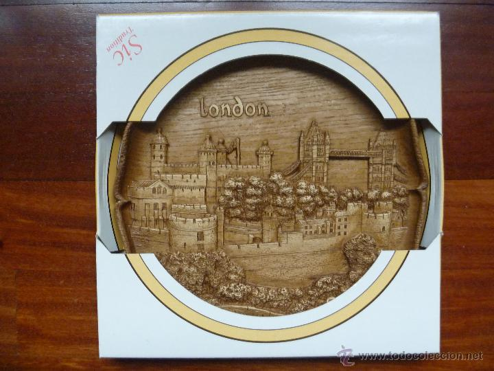 TORRE LONDRES PLATO MADERA TOWER OF LONDON GERMAN WOODEN IDEAL REGALO NAVIDAD (Artículos Nuevos)