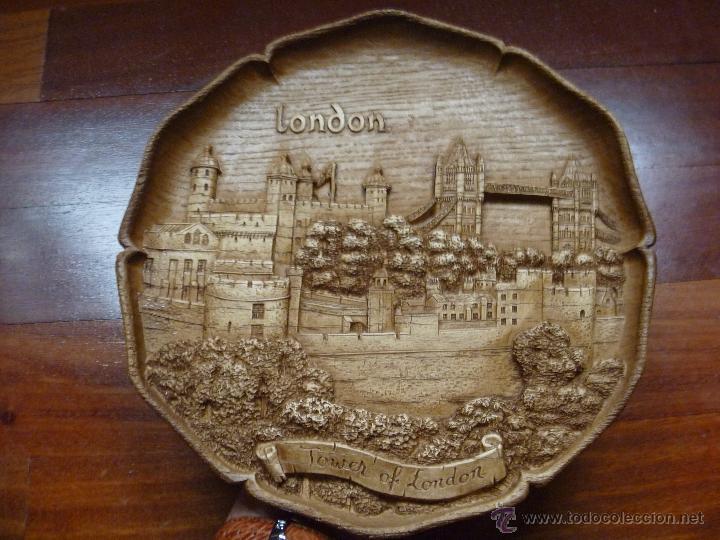 Nuevo: Torre Londres plato madera Tower of London german wooden Ideal regalo Navidad - Foto 7 - 48353757