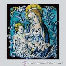 Nuevo: PRECIOSO AZULEJO 20X20 DE LA VIRGEN MARIA Y EL NIÑO JESÚS. Lote 128149912