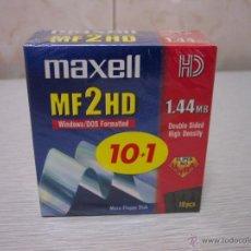Nuevo: DISQUETES 1.44MB - MAXELL MF2HD - NUEVOS. Lote 49863259