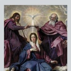 Nuevo: PORTENTOSO AZULEJO 40X25 DE LA CORONACIÓN DE LA VIRGEN MARIA. Lote 50589843