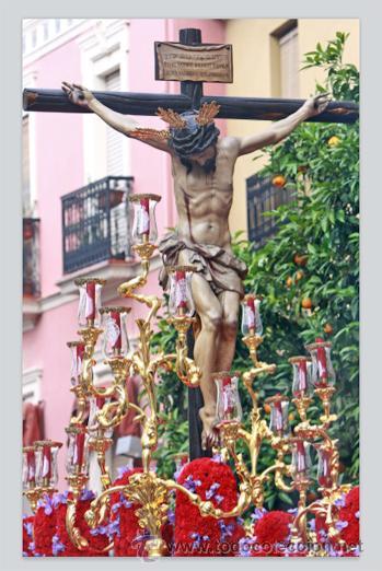 PRECIOSO AZULEJO 20X30 DEL CRISTO DE SAN BERNARDO DE SEVILLA (Artículos Nuevos)