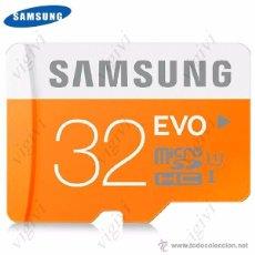 Nuevo: TARJETA MEMORIA SAMSUNG EVO 32GB MICRO SDHC. Lote 51372853