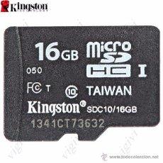 Nuevo: TARJETA DE MEMORIA KINGSTON 16GB CLASS-NUEVAS. Lote 51531886