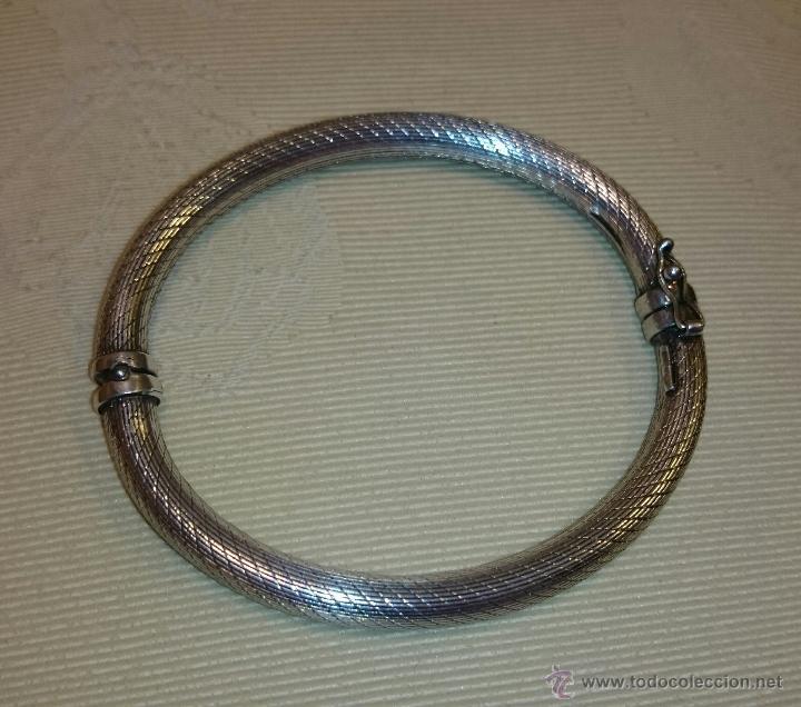 a3adcdaa7ec5 Espectacular brazalete - pulsera rígida de plat - Vendido en Venta ...