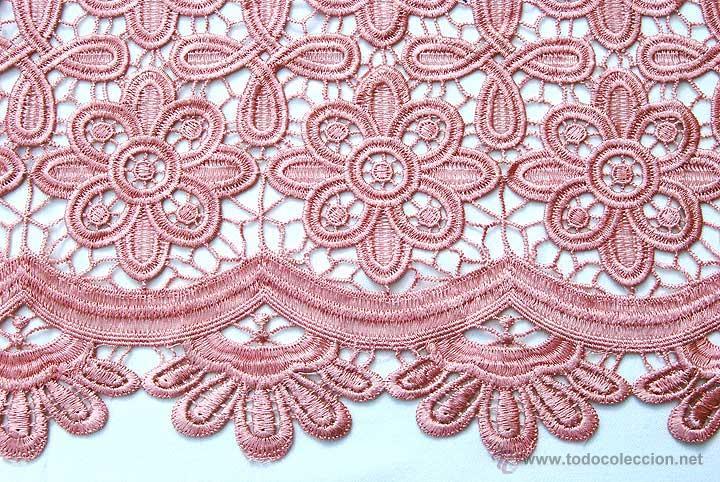 retal de tela de guipur color rosa palo 56 x 96 - Comprar Artículos ...