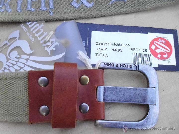 Nuevo: precioso cinturon ritchie 100 x 100 algodon mira las fotos lote 3 - Foto 4 - 172187239