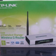 Nuevo: TP LINK EXTENDED RANGE WIRELESS G ROUTER (TL-WR542G). Lote 53723740