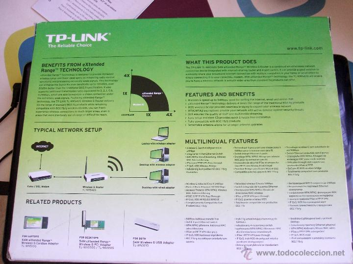 Nuevo: TP LINK EXTENDED RANGE WIRELESS G ROUTER (TL-WR542G) - Foto 2 - 53723740