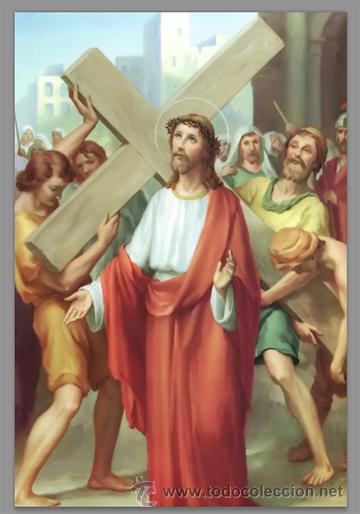 Nuevo: Precioso conjunto de 15 azulejos 20x30 de las estaciones del Via crucis. - Foto 2 - 82325995