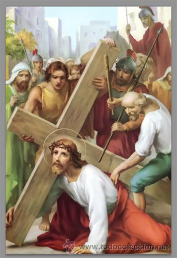 Nuevo: Precioso conjunto de 15 azulejos 20x30 de las estaciones del Via crucis. - Foto 3 - 82325995