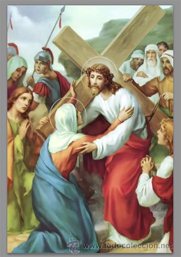 Nuevo: Precioso conjunto de 15 azulejos 20x30 de las estaciones del Via crucis. - Foto 4 - 82325995