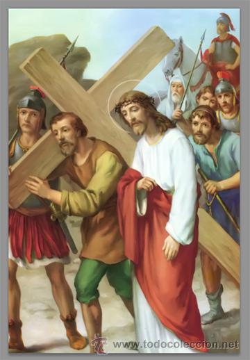 Nuevo: Precioso conjunto de 15 azulejos 20x30 de las estaciones del Via crucis. - Foto 5 - 82325995