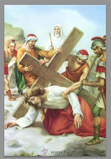 Nuevo: Precioso conjunto de 15 azulejos 20x30 de las estaciones del Via crucis. - Foto 7 - 82325995