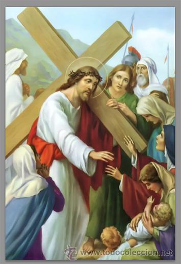 Nuevo: Precioso conjunto de 15 azulejos 20x30 de las estaciones del Via crucis. - Foto 8 - 82325995