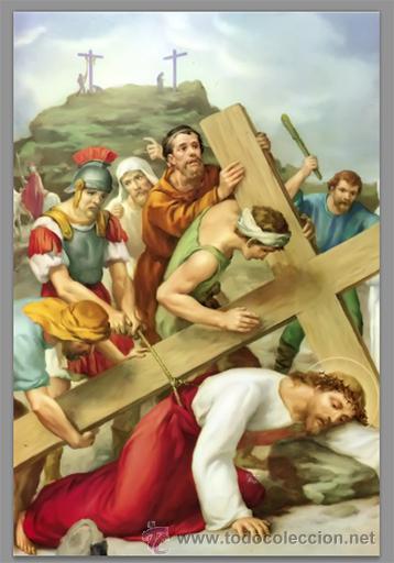 Nuevo: Precioso conjunto de 15 azulejos 20x30 de las estaciones del Via crucis. - Foto 9 - 82325995