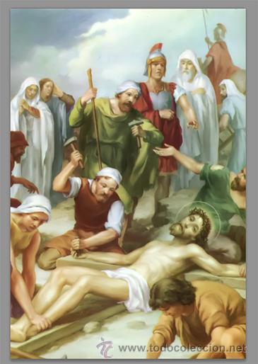 Nuevo: Precioso conjunto de 15 azulejos 20x30 de las estaciones del Via crucis. - Foto 11 - 82325995
