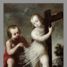 Nuevo: AZULEJO 20X30 DEL NIÑO JESUS ABRAZADO A LA CRUZ Y SAN JUAN. Lote 76086107