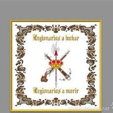 Nuevo: AZULEJO 10X10 CON EL EMBLEMA DE LA LEGION Y LA FRASE LEGIONARIOS A LUCHAR,LEGIONARIOS A MORIR.. Lote 91017832