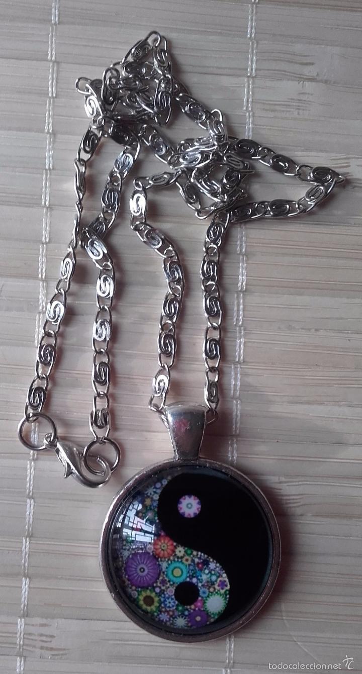 Nuevo: Colgante estilo vintage florido Yin y Yan bajo cabuchón de cristal en plata tibetana. Nuevo. - Foto 4 - 132400217