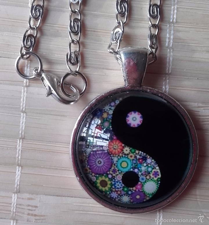 Nuevo: Colgante estilo vintage florido Yin y Yan bajo cabuchón de cristal en plata tibetana. Nuevo. - Foto 6 - 132400217