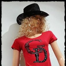 Nuevo: CAMISETA D&G EN COLOR ROJA CON STRASS, BRILLANTITOS COLOR CRISTAL - ROPA. Lote 56518559