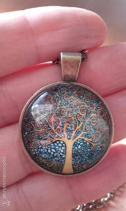 Nuevo: Colgante estilo vintage Árbol de la vida bajo cabuchón de cristal en color cobre. - Foto 2 - 132400579