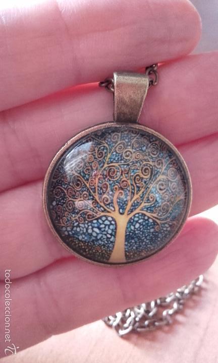 Nuevo: Colgante estilo vintage Árbol de la vida bajo cabuchón de cristal en color cobre. - Foto 3 - 132400579