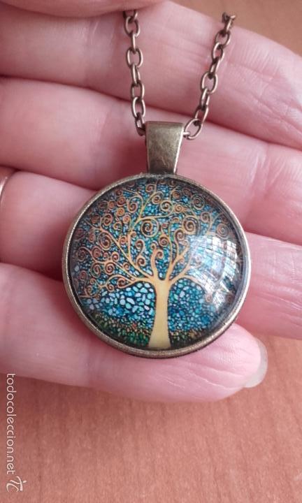 Nuevo: Colgante estilo vintage Árbol de la vida bajo cabuchón de cristal en color cobre. - Foto 4 - 132400579
