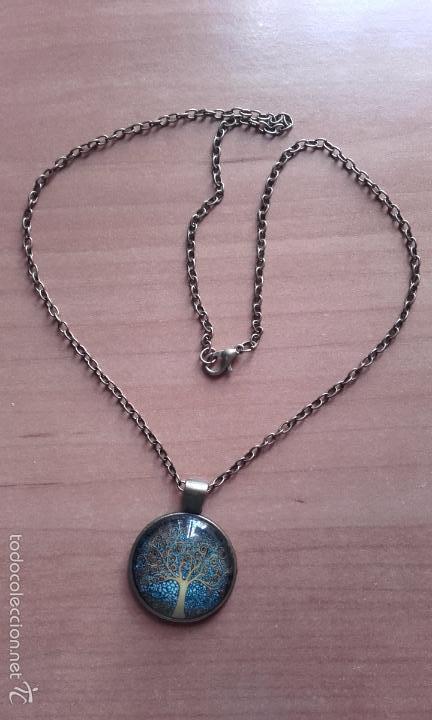 Nuevo: Colgante estilo vintage Árbol de la vida bajo cabuchón de cristal en color cobre. - Foto 6 - 132400579