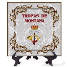 Nuevo: AZULEJO 10X10 CON EL EMBLEMA DE TROPAS DE MONTAÑA.. Lote 58595483