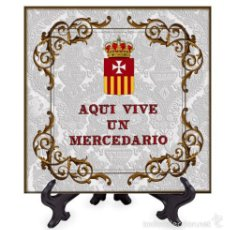 Nuevo: AZULEJO 15X15 AQUI VIVE UN MERCEDARIO.. Lote 58608406