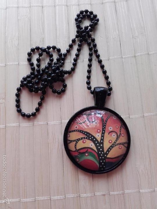 Nuevo: Colgante con cabuchón con dibujo de árbol de la vida de estilo africano. Incluye cadena. - Foto 5 - 230044590