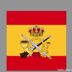 Nuevo: AZULEJO 20X20 CON ESCUDO DE LA INFANTERIA CON BANDERA DE ESPAÑA. Lote 61568968