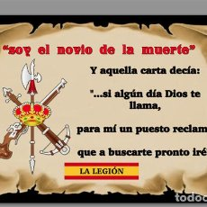 Nuevo: AZULEJO 20X30 SOY EL NOVIO DE LA MUERTE,LEGÍON ESPAÑOLA. Lote 61659564