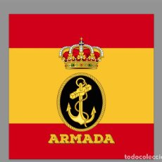Nuevo: AZULEJO 10X10 CON ESCUDO DE LA ARMANDA Y BANDERA ESPAÑA. Lote 210975402
