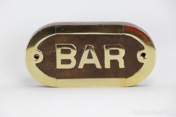 Bar letrero placa madera lat n barco puerta dec comprar for Articulos decoracion nautica