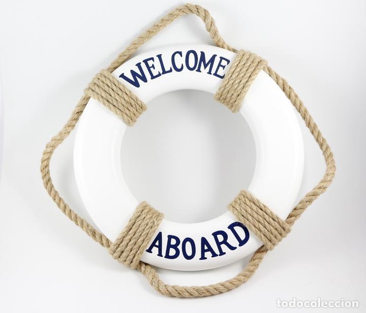 Salvavidas welcome 28 cms decoraci n n utica ma comprar for Articulos decoracion nautica