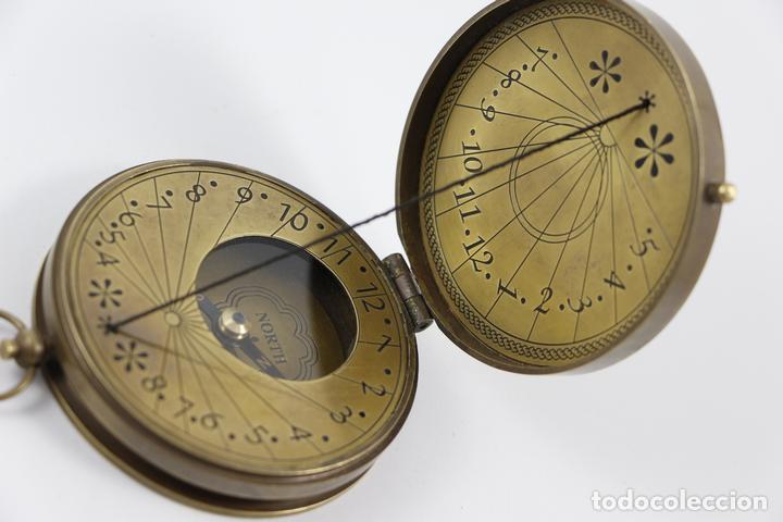 c2fe685fb498 Brújula reloj de sol náutica marinero latón 7 c - Vendido en Venta ...