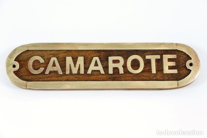 Camarote letrero placa madera lat n barco puert comprar for Articulos decoracion nautica