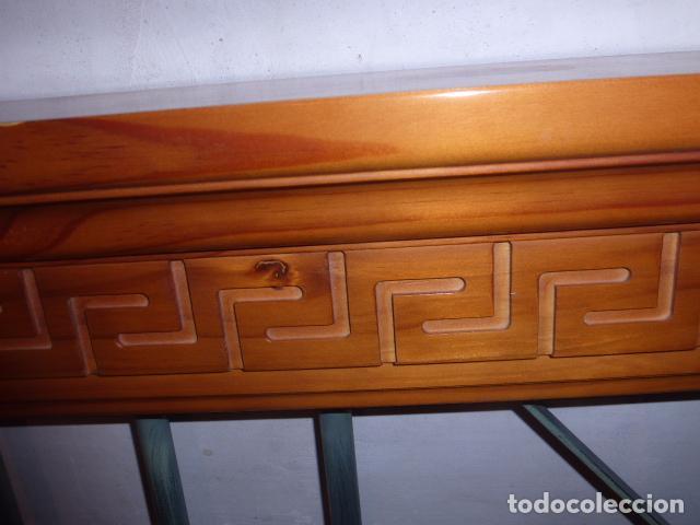 Cabezal de madera de pino y forja para cama de comprar - Cabezal de madera ...