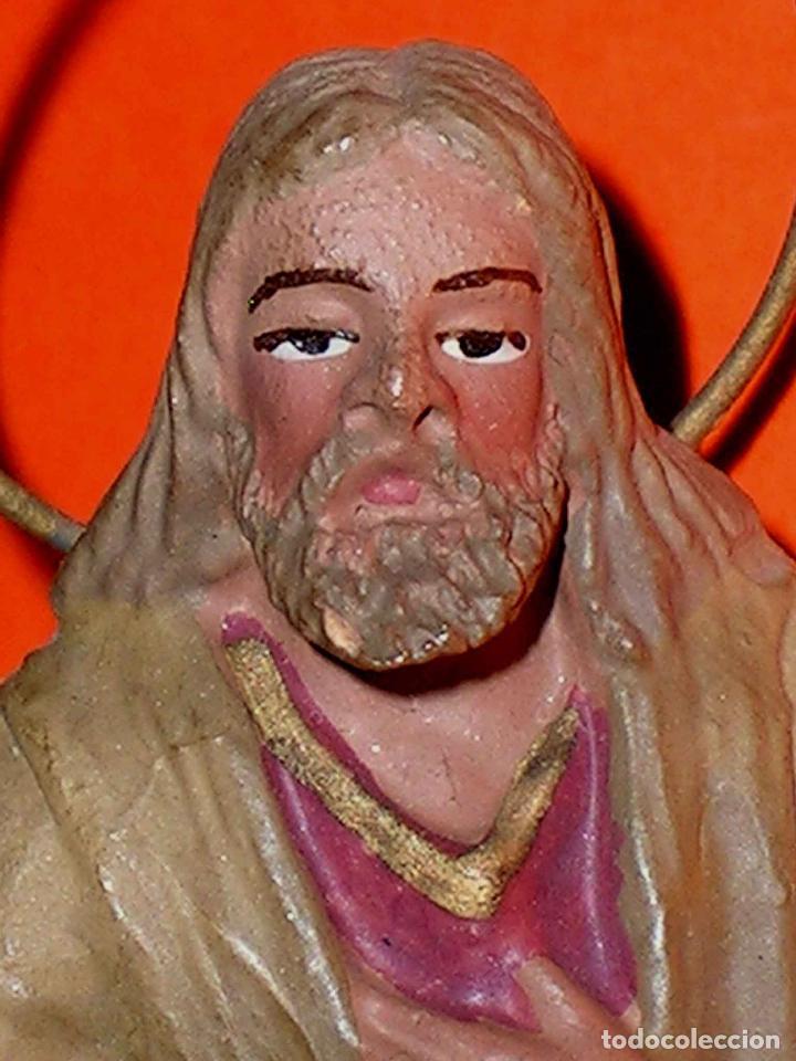 Nuevo: Figuras Belén Jesús, María y José, barro o terracota, Castells o similar, años 50-60. Excelente. - Foto 3 - 23763762