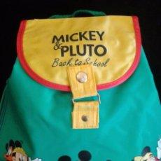 Nuevo: MOCHILA PEQUEÑA VERDE MICKEY & PLUTO BACK TO SCHOOL. Lote 90971265